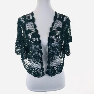 Just Love 1X Black lace coverup